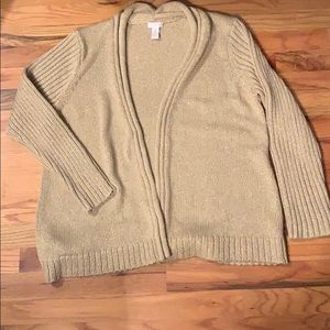 The Holidays are here! CHICOS gold metallic cardi
